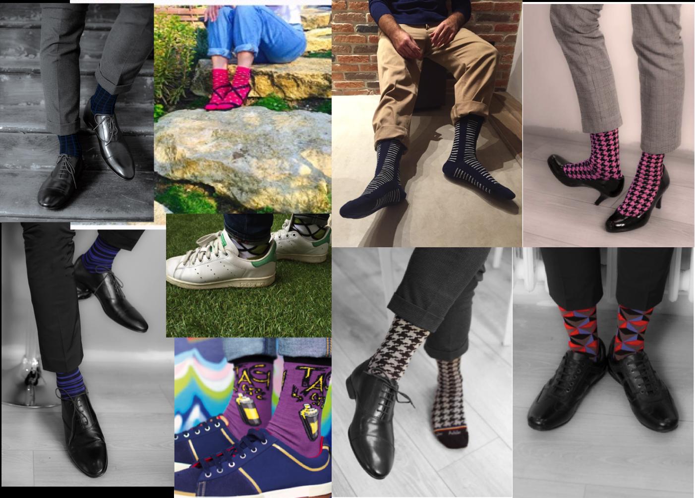 Astuce conseil comment porter des chaussettes color es - Comment porter les chaussettes hautes ...